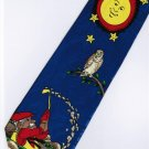 Fishing Owl Bird Sun Cartoon Fancy Novelty Neck Tie