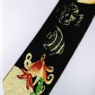 Star Fish Octopus Sea Horse Marine Life Fancy Cartoon Novelty Neck Tie