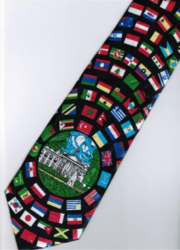 World Country Flag 3 Fancy Novelty Neck Tie