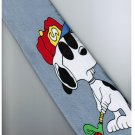 Snoopy Dog Big Play Golf SILVER Cartoon Neck Tie