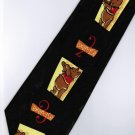 Winnie the Pooh Bear Disney Exercise 123 Black Cartoon Neck Tie