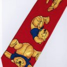 Winnie the Pooh Bear Disney Play RED Cartoon Neck Tie