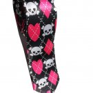 Kawaii Emo Girls Skull Crossbones White Pink BLACK Slim Novelty Neck Tie