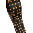 Kawaii Emo Girls Skull Crossbones Orange BLACK Slim Novelty Neck Tie