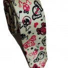 Musical Skull Emo Punk Rock Slim Novelty Neck Tie