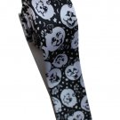 Halloween Pumpkin Emotional Face White Slim Novelty Neck Tie