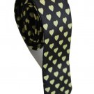 Love Shape Yellow Black Slim Novelty Neck Tie