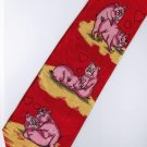 Valentine Day Pig Love 2 Fancy Novelty Necktie