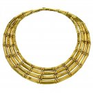 Vintage Cartier 4-row Bamboo Choker Necklace in 18k Yellow Gold