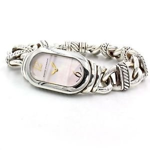 David Yurman Madison Cable Pink MOP Sterling Silver Women's Watch T408-MSS
