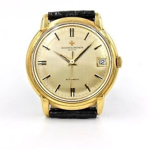 Rare 1960s Vacheron Constantin 6394Q in 18k Yellow Gold with Linen Textured Dial