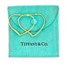 Tiffany & Co. Elsa Peretti Medium Open Heart Hoop Earrings in 18k Yellow Gold