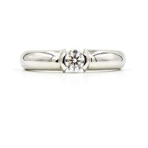 Tiffany & Co. Etoile Diamond Engagement Ring in 950 Platinum Size 7.5