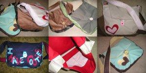 Strawberry & Chocolate Bookbags & Satchel purse bag
