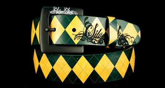 Green Argyle belt