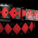 Red Arglyle belt