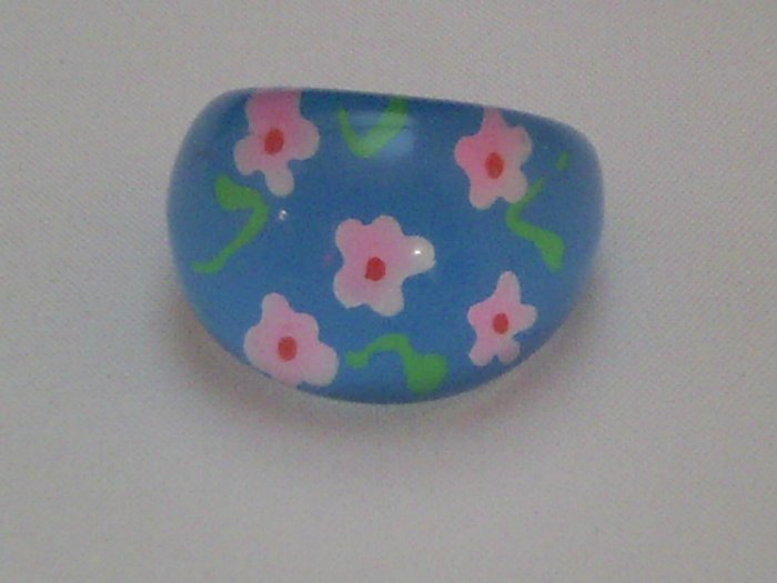KCRIN 00002  Plastic Ring Blue