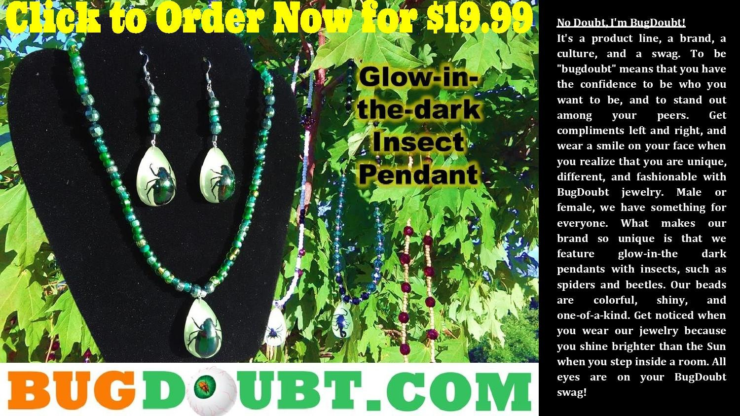 Greendale Set w/Multi-colored Beetle Pendant