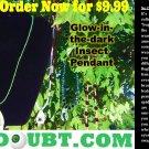 Green Shimmer w/ Black Spider Pendant