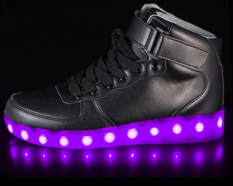 LED Shoes High Top Black Men Sz 11