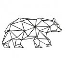 AYA DIY Wall Stickers Wall Decals,  Geometric Bear Wall art Type PVC Wall Stickers