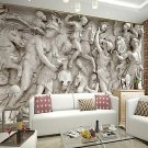 Retro 3D Shinny Leather Effect Large Mural Wallpaper Roman Relief Art Wall Decor for Tv Sofa Backg