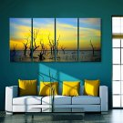 E-HOME Stretched Canvas Art  Dusk Decorative Painting Set of 4