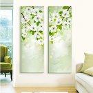 E-HOME Stretched LED Canvas Print Art  Flower Flash effect LED Set of 2