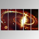 VISUAL STAR5 Panel Abstract Universe Canvas Wall Art Modern Space Canvas Print Ready to Hang