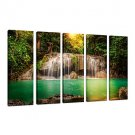 VISUAL STARNatural Landscape Canvas Art Print ,Forest Scenery Canvas Print Photo,Stretched and Rea