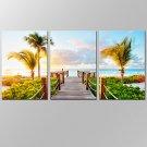 VISUAL STARAmazing Beautiful Seascape Canvas Wall Art for Home Decoration Tropical Palm Tree Beach