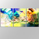 VISUAL STARAmazing Abstract Wall Art for Home Decoration 3 Pieces Canvas Prints with Frame Ready t