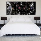 Stretched Canvas Print Art Abstract Butterfly in Dream Set of 3