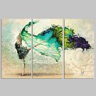 VISUAL STARFramed Abstract Wall Art for Home Decoration Dancing Girl Giclee Print on Canvas Ready