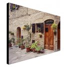 Stretched Canvas Art Landscape Flowers On The Wall, Tuscany, Italy by Monte Nagler Ready to Hang