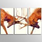 Canvas Print Animal Modern Red DeerThree Panels Canvas Horizontal Print Wall Decor For Home Decora