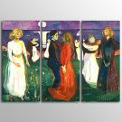 Canvas Print Abstract Dancer People Modern Three Panels Canvas Horizontal Print Wall Decor For Hom