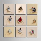 E-HOME Stretched Canvas Art  A Broken Bird Series Decoration Painting MINI SIZE One Pcs