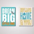 English Words Canvas Print 45x60cmx2pcs Modern Wall Art Unframed
