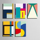 E-HOME Stretched Canvas Art Abstract Color Geometry Decoration Painting One Pcs