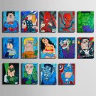 E-HOME Stretched Canvas Art Heros Abstract Cartoon Decoration Painting One Pcs