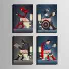 E-HOME Stretched Canvas Art Heroes Read Newspapers Decoration Painting One Pcs