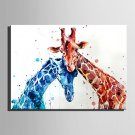 E-HOME Stretched Canvas Two Long Deer Decoration Painting One Pcs