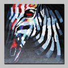 100% Hand-Painted Zebra Animal Oil Painting On Canvas Modern Abstract Wall Art Picture For Home De