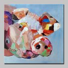 100% Hand-Painted Lovely Big Animal Oil Painting On Canvas Modern Abstract Wall Art Picture For Ho