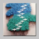 100% Hand-Painted Landscape Oil Paintings On Canvas Modern Abstract Bird Picture Wall Art For Home