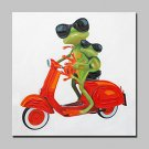 Lager Hand Painted Frogs Animal Oil Painting On Canvas Modern Abstract Wall Art For Home Decor Whi