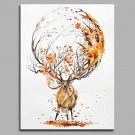 Elk and Crystal Ball 100% Hand Painted Contemporary Oil Paintings Modern Artwork Wall Art for Room