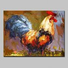 Hand Painted Animal Oil Painting On Canvas Modern Art Abstract Cock Wall Pictures For Home Decorat