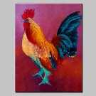 Hand-Painted Animal Oil Paintings On Canvas Modern Abstract Cock Wall Art Pictures For Home Decora